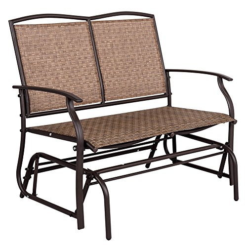 Sundale Outdoor 2 Person Loveseat Glider Bench Chair Patio Porch Swing With Rocker