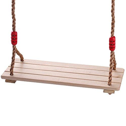 HappyPie Children Pine Wood Hanging Swings Seat with 2 Meter of Rope Per Side 4pc hardwood