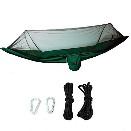 C-caravan Portable High Strength 70d Nylon Taffeta Jungle Camping Hammock Hanging Bed With Mosquito Net Sleeping