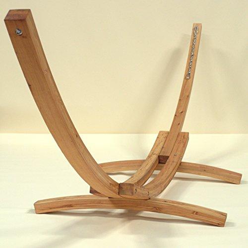 Wood Arc Hammock Stand - 13 Feet - 450lbs - Siberian Larch