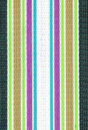 WebbingProTM Green Multi Stripe Lawn Chair Webbing 3 Inch Wide 50 Feet Long Roll