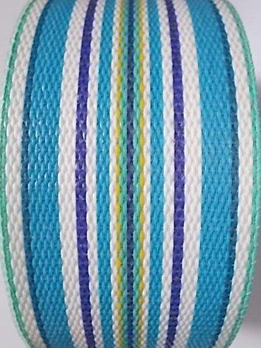 Webbingpro Lawn Chair Webbing - Summertime Blue Stripe Webbing 2 14 Inches Wide 100 Feet Long Roll