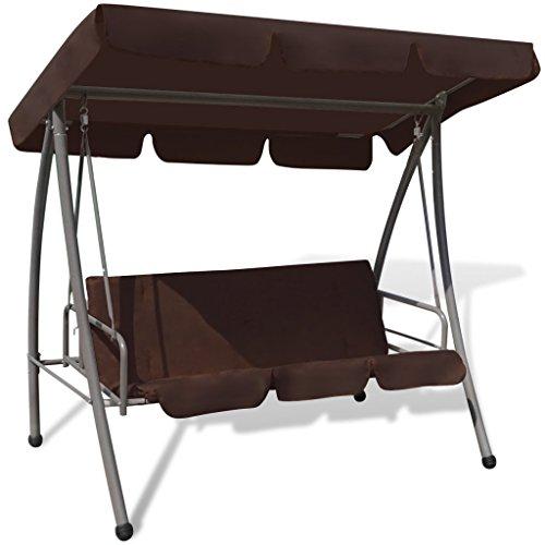 Anself Converting Outdoor Swing Canopy Hammock Seats 3 Patio Deck Furniture Coffee