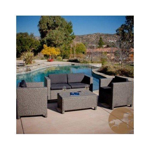 Wicker Sofa Set Outdoor Patio Deck Furniture Backyard Seating