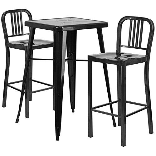 Indoor-Outdoor Table Set Black