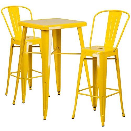 Indoor-Outdoor Table Set Yellow