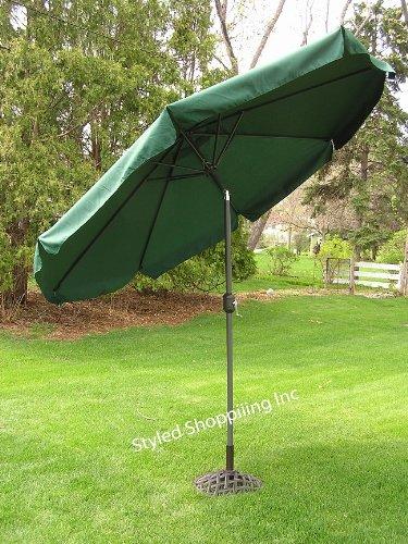 9 Foot Deluxe Forest Green Aluminum Outdoor Patio Deck Commercial Umbrella Tilt
