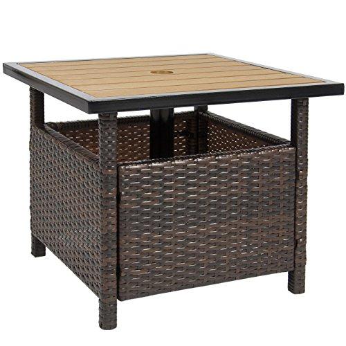 Best Choice Products Patio Umbrella Stand Wicker Rattan Outdoor Furniture Garden Deck Pool