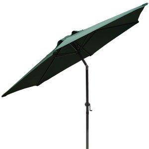 Green 8 Ft Outdoor Patio Beach Umbrella Tilt Market Deck Shade Yard Centre Pole