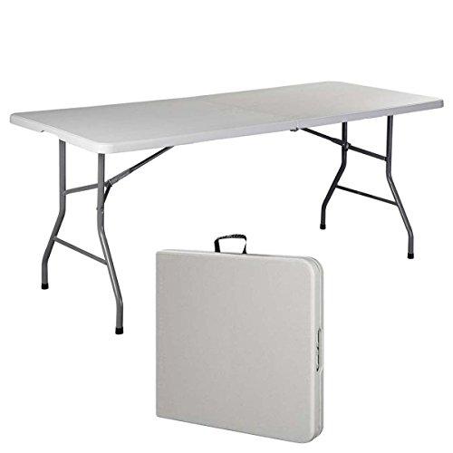 Generic LQ8LQ0874LQ c Indoo Indoor Outdoor Table Portable Plastic oor Picnic Party Dining nic Par 6 Folding Table Camp Table Camp Tables US6-LQ-16Apr15-3222