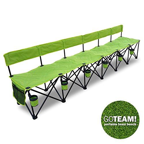 Goteam Pro 6 Seat Portable Folding Team Bench - Green
