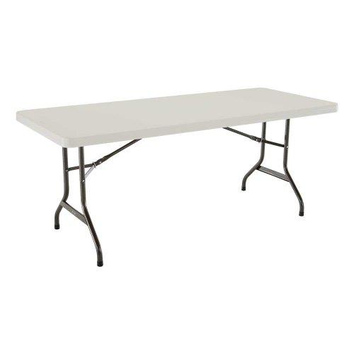 Lifetime 22900 Folding Utility Table 6  Feet Almond