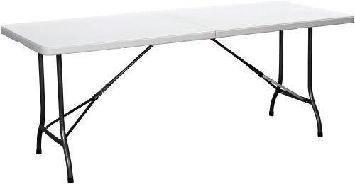 Duralight HDPE Folding Multipurpose Table 6-Feet White Granite