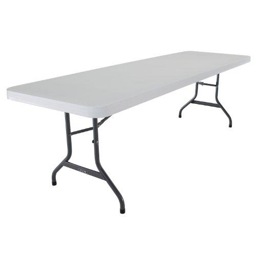 Lifetime 22980 Folding Utility Table 8 Feet White Granite