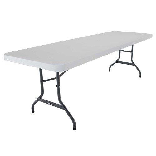 Lifetime 42980 Folding Utility Table  8 Feet White Granite Pack Of 4
