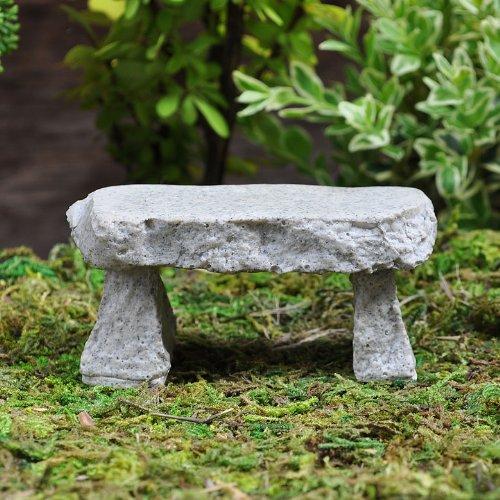 Miniature Fairy Garden Mini Granite Bench