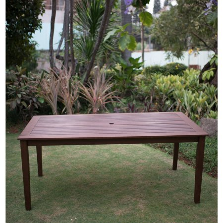 Alston Rectangular Wood Dining Table Outdoor-Natural
