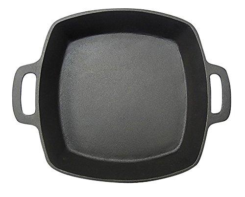 MrBarBQ 08108X Square Pan Cast Iron