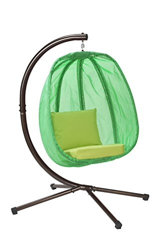 Flowerhouse Hanging Egg Chair With Stand Light Green