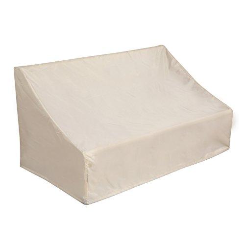 Deconovo Oxford Outdoor Patio Loveseat Cover Waterproof Veranda Couch Cover Dustproof Veranda Patio Sofa Cover for Patio Couch 58L x 325W x 31H Inch Beige