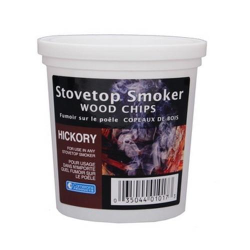 Hickory Wood Smoker Chips- 100 Natural Wood Smoking And Barbecue Chips- 1 Pint