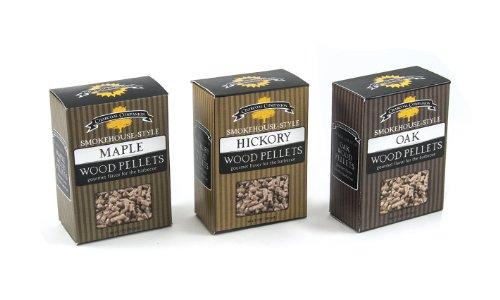 Charcoal Companion Smokehouse-style Wood Pellets Set hickorymapleoak - Cc6051
