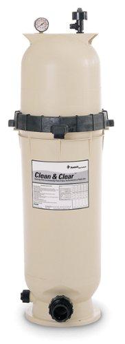 Pentair 160316 Cleanamp Clear Fiberglass Reinforced Polypropylene Tank Cartridge Pool Filter 100 Square Feet