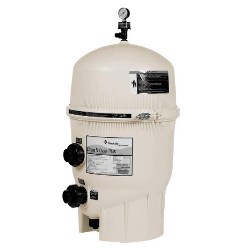 Pentair 160340 Cleanamp Clear Plus Fiberglass Reinforced Polypropylene Tank Cartridge Pool Filter 320 Square Feet