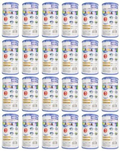24 INTEX Type A Easy Set Pool Filter Cartridges 59900E by Intex