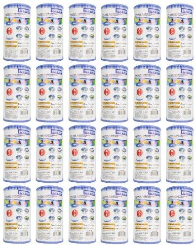 Intex Type A Easy Set Pool Filter Cartridge 24-pack  29000e 59900e