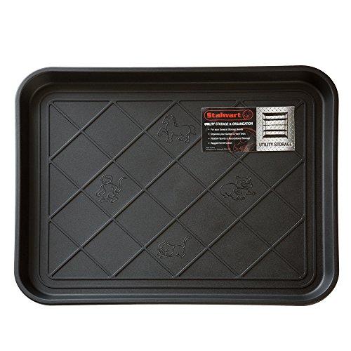 "Stalwart Eco Friendly Utility Boot Tray Mat, 20"" X 15""/small, Black"