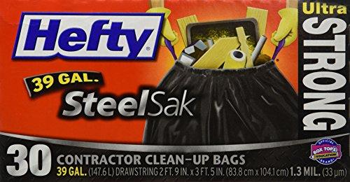 Hefty Trash Bag 39 Gal 13mil Plastic Black - 30 Ct