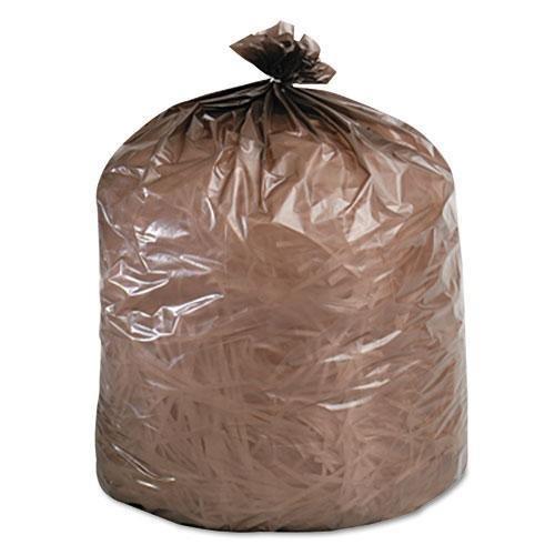 STOR-A-FILE INC G3036B80 Eco-Degradable Plastic Trash Bag 20-30gal 8mil 30 x 36 Brown 60Box