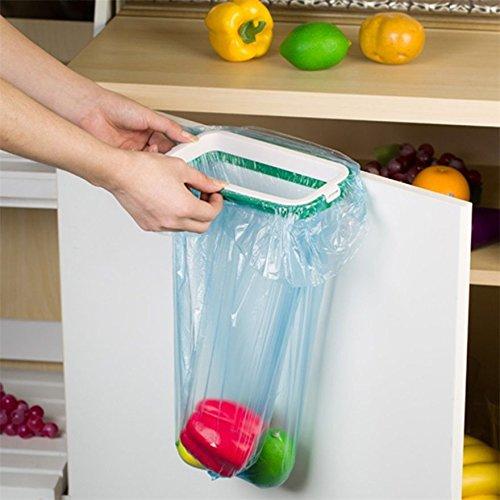 Kitchen Hanging Trash Rubbish Bags Holder Garbage Racks Cupboard Hanger Mc