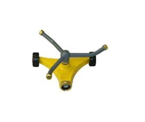 QVS 004359 Three Arm Rotary Sprinkler on Small 2-Wheel Base Yellow