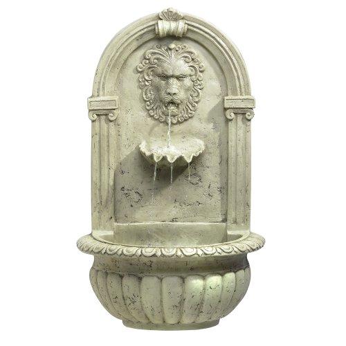 Koehlerhomedecor Outdoor Garden Decorative Accent Lion Head Water Fountain