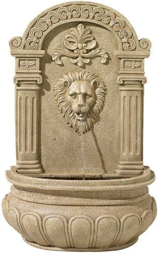Sand Finish Lion Face Wall Fountain