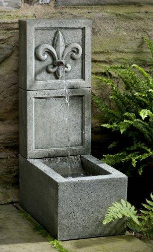 Campania International FT-203-AS Fleur De Lis Element Fountain Alpine Stone Finish
