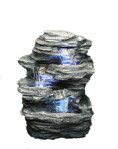 Hi-line Gift Rock 4-level Fountain