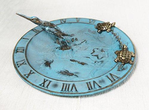 Brass Hummingbird Birdbath Birdfeeder Sundial Multi-function - With 2 Little Turtles
