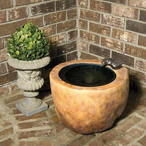 17 VedaHome Small Bird Stone Outdoor Garden Patio Water Fountain