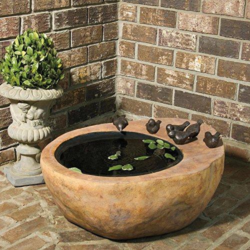 2625 VedaHome Large Bird Stone Outdoor Garden Patio Water Fountain