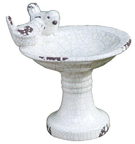 Napco Ceramic Bird Feeder on Pedestal 7
