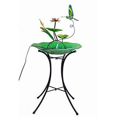 Outdoor Garden Decorative Fountain Bowl Stand - Green