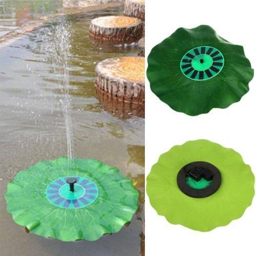 RivenAn Floating Lotus Leaf Shape Solar Power Energy Decorative Water Pump Fountain for Pond Birdbath Pool Garden