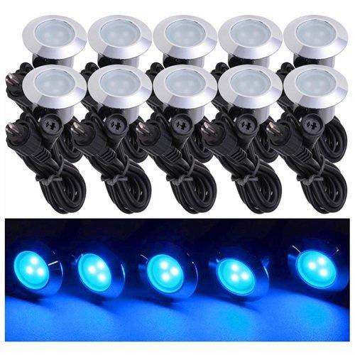 10 Pack LED Deck Lighting Fixture w Transformer Blue