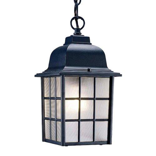 Acclaim 5306bk Nautica Collection 1-light Outdoor Light Fixture Hanging Lantern Matte Black