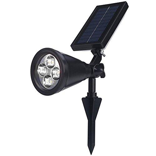 Deckey Solar Lights Spotlight Rgb Outdoor Landscape Lighting Waterproof Wall Light Security Night Lightsnbspadjustable