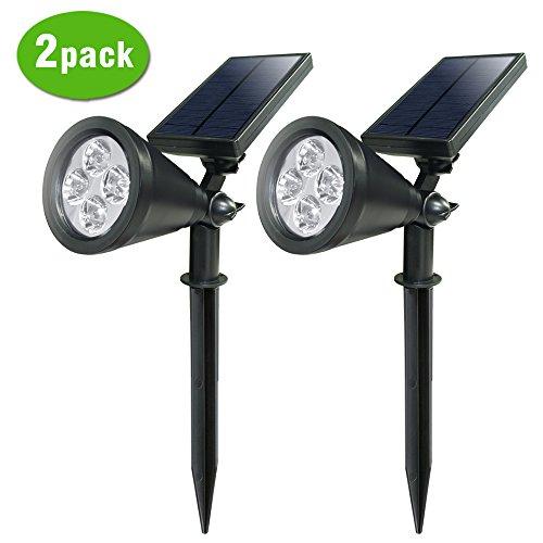 Lte 4 Led Solar Spotlight Waterproof Wall Light Outdoor Wireless Night Lights Landscape Lighting Dusk To