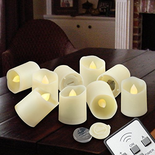 Flameless Candles Led Votive Unscented Tealight  Remote Control Timer Tea Lights  Include Battery Operated 200